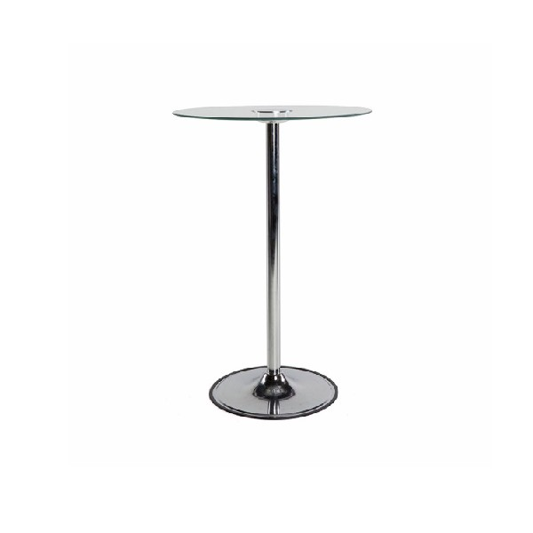 CLEAR GLASS TOP COCKTAIL TABLE -