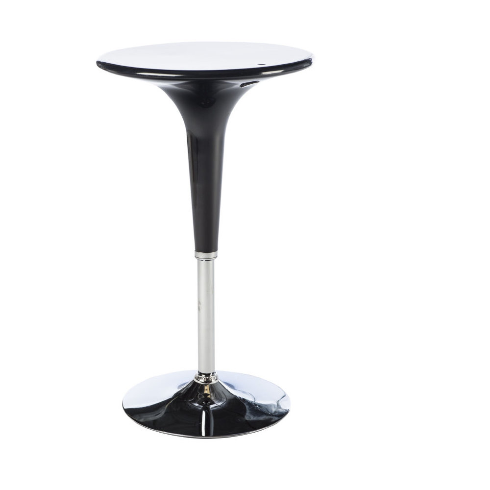 RETRO BLACK COCKTAIL TABLE -