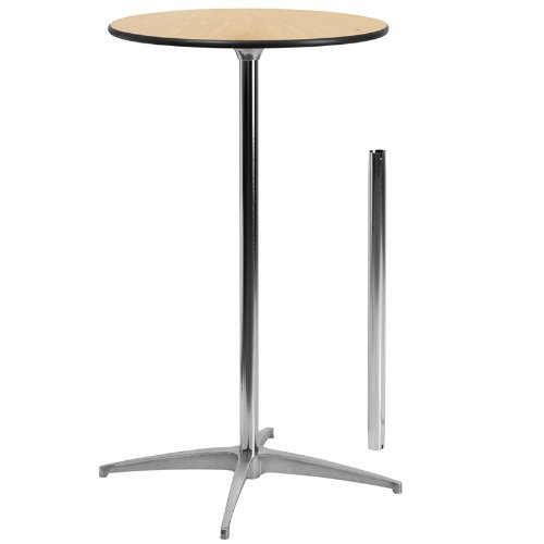 STANDARD WOOD TOP COCKTAIL TABLE STAR FEET -