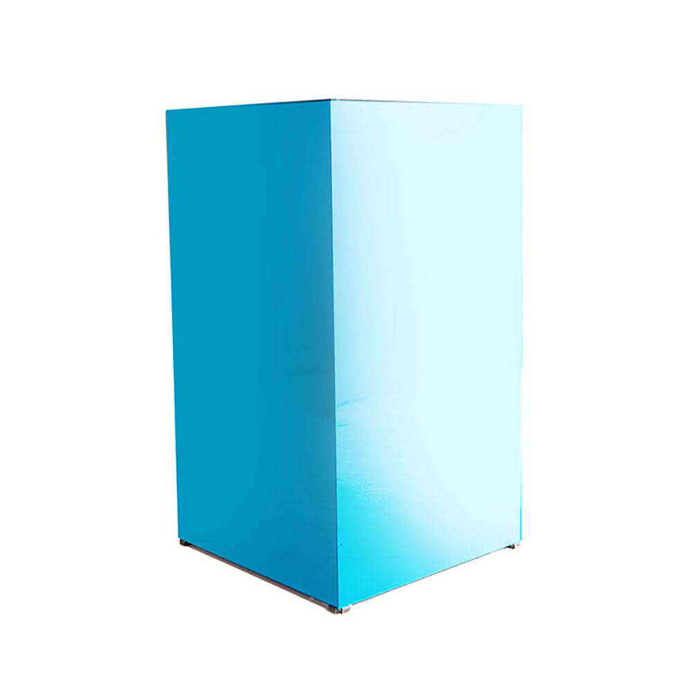 MIRROR PEDESTAL BLUE -