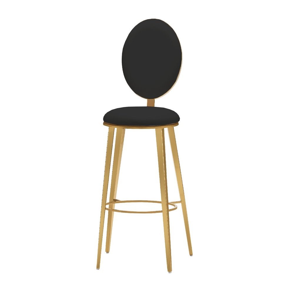 BLACK & GOLD BAR STOOL