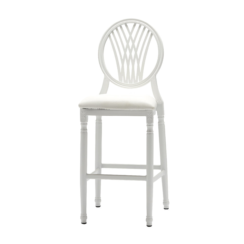 PALMETTO WHITE BAR STOOL -