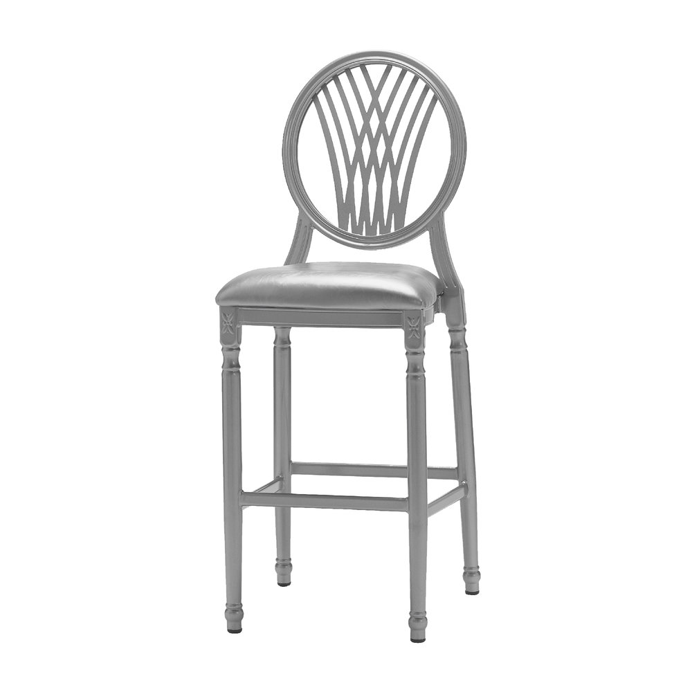 PALMETTO SILVER BAR STOOL -