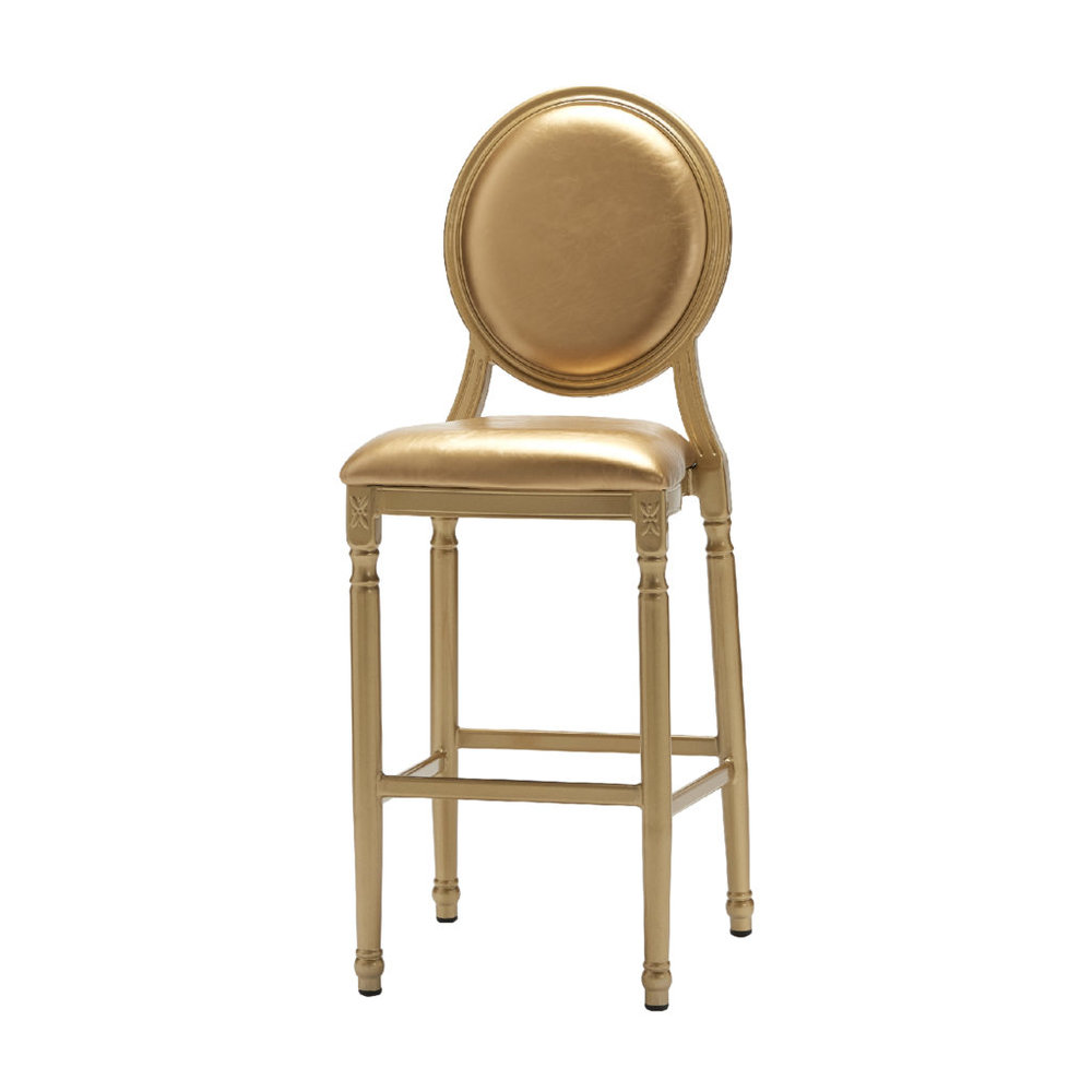 PALMETTO PADDED GOLD BAR STOOL -