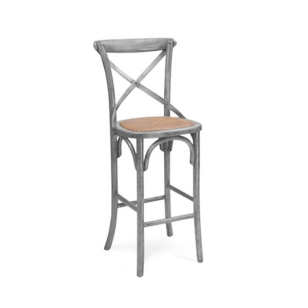 PROVANCE GRAY BAR STOOL -