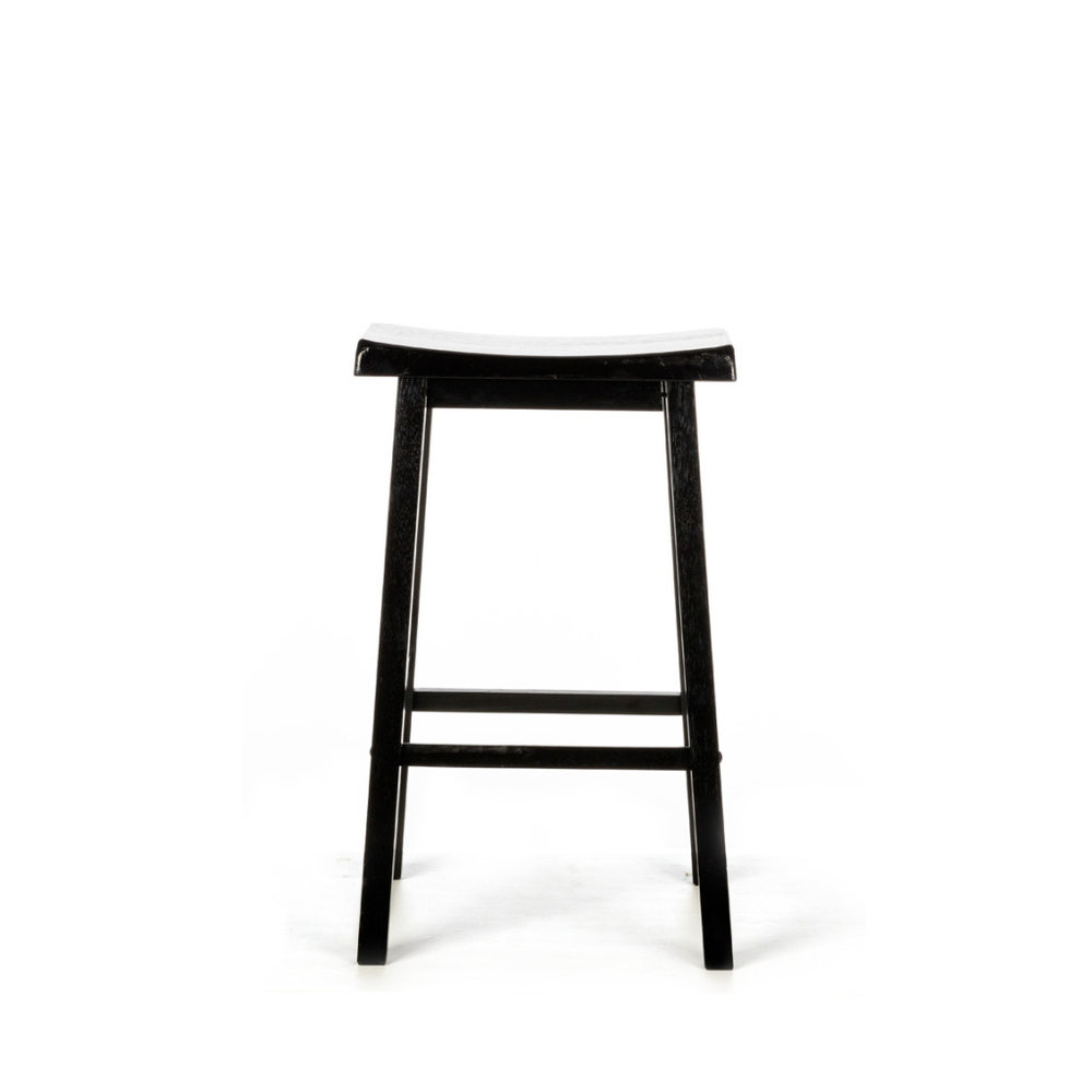 ZEN BLACK BAR STOOL -