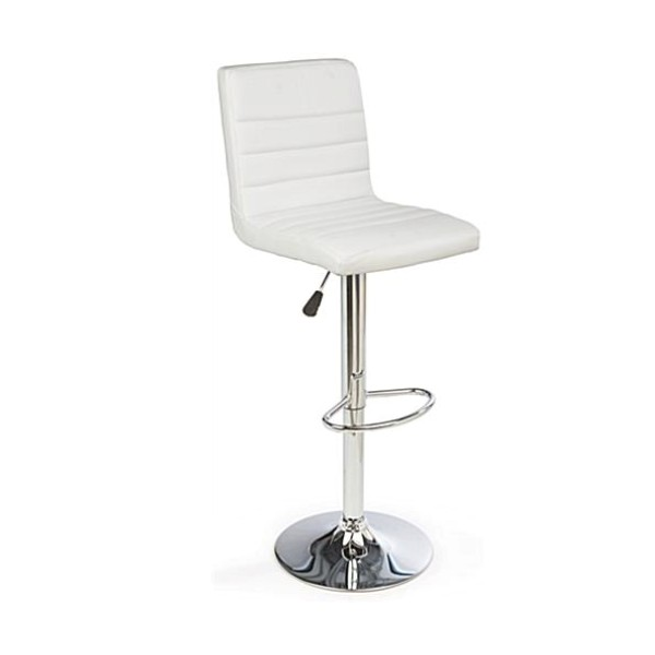 WHITE HIGHBACK BAR STOOL -