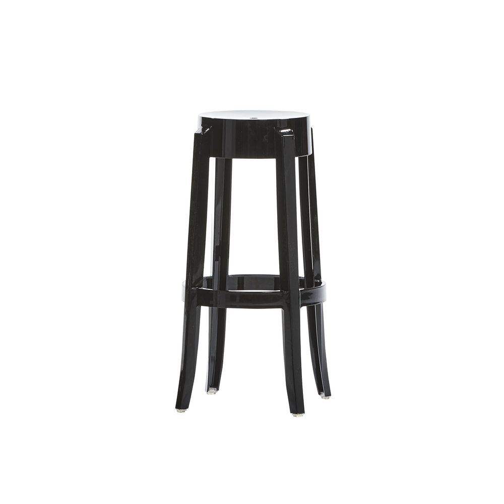 GHOST BLACK BAR STOOL -