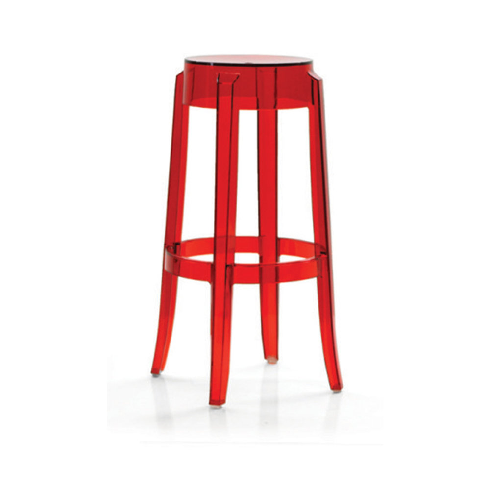 GHOST RED BAR STOOL -