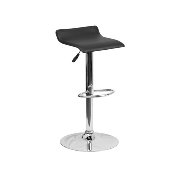 LOW BACK BLACK BAR STOOL -