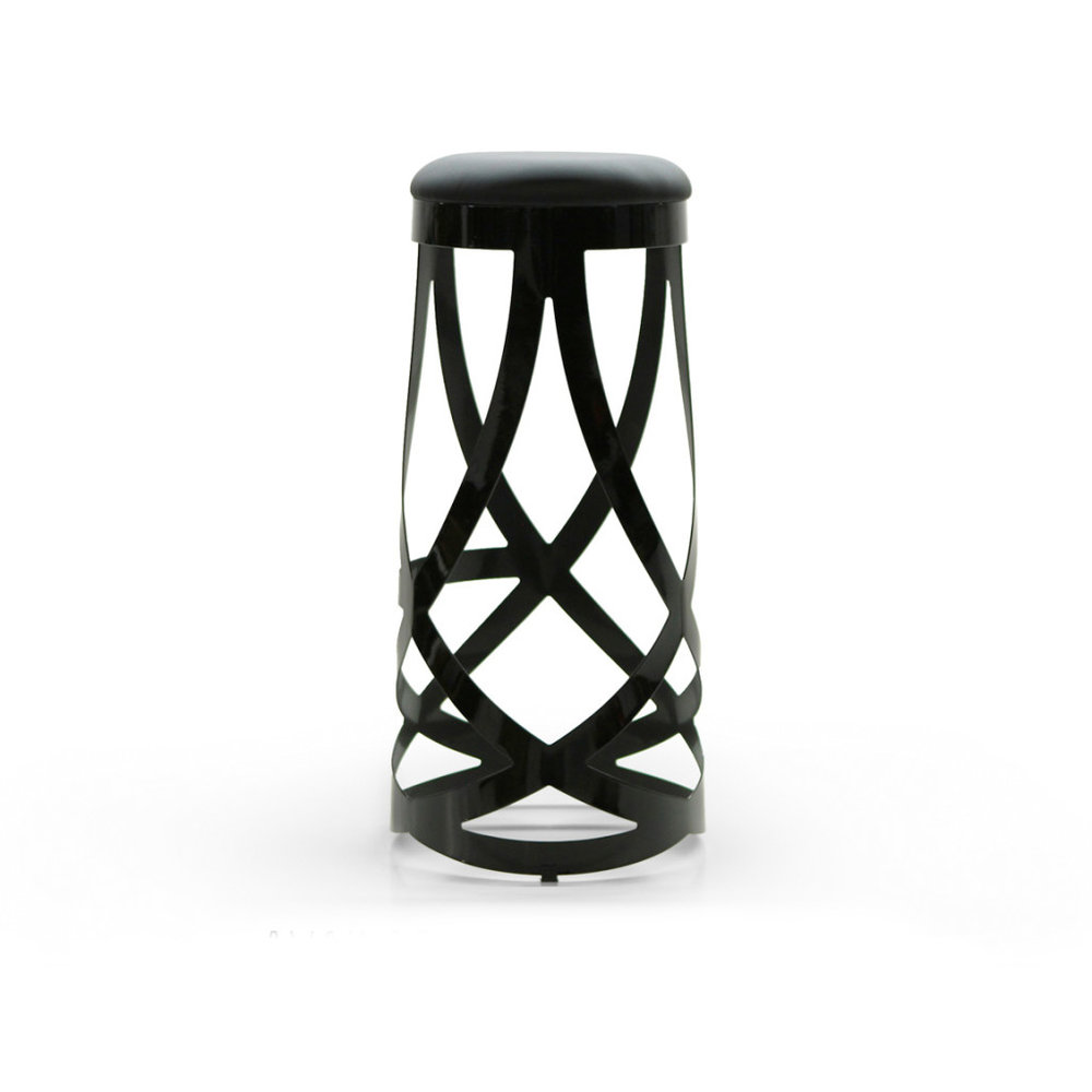 LACE BLACK BAR STOOL -