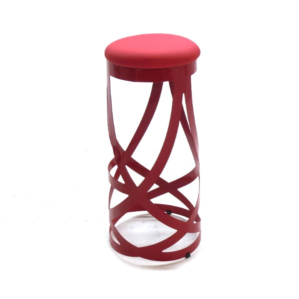LACE RED BAR STOOL -