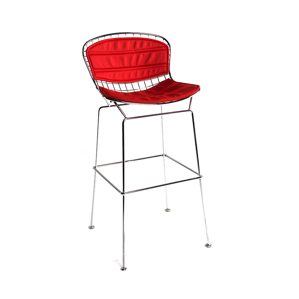 WIRE RED BAR STOOL -