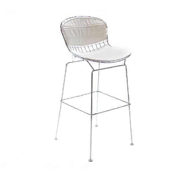 WIRE WHITE BAR STOOL -