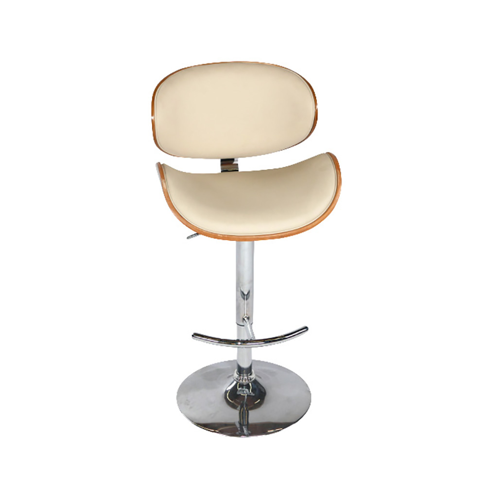 SCOOP IVORY & NATURAL BAR STOOL -