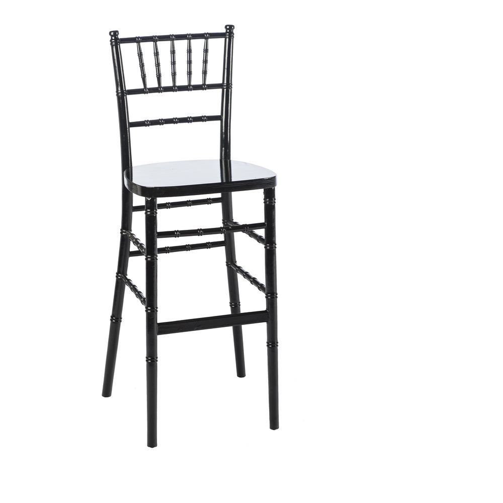 BLACK CHIAVARI BAR STOOL -