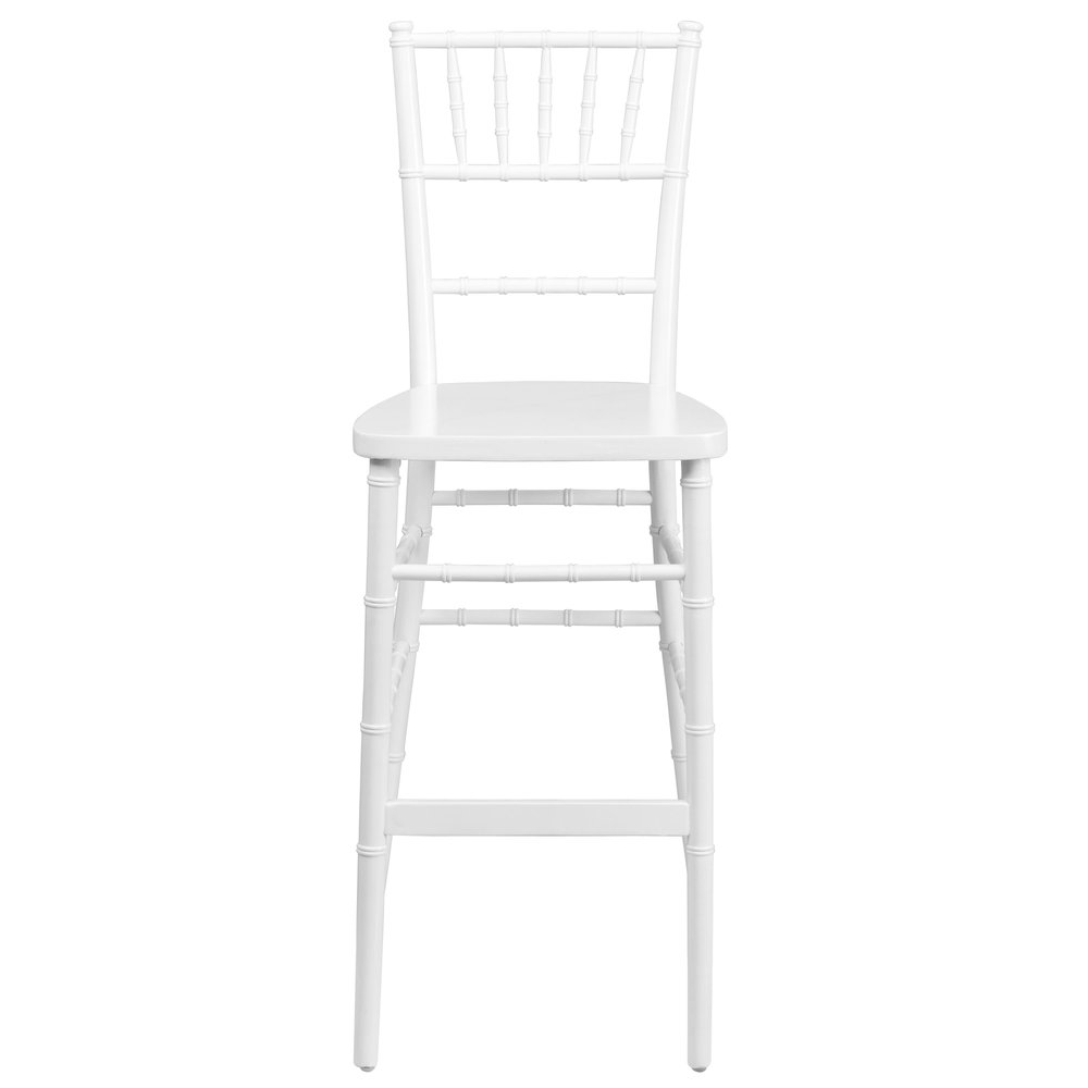 WHITE CHIAVARI BAR STOOL -