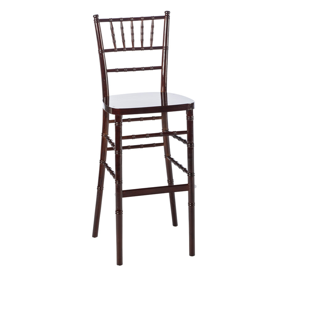 MAHOGANY CHIAVARI BAR STOOL -