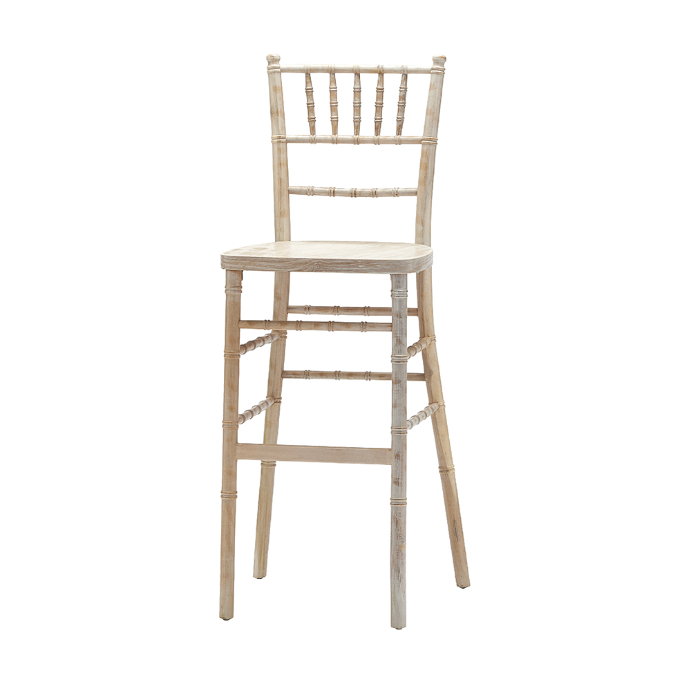 WHITEWASHED CHIAVARI BAR STOOL -
