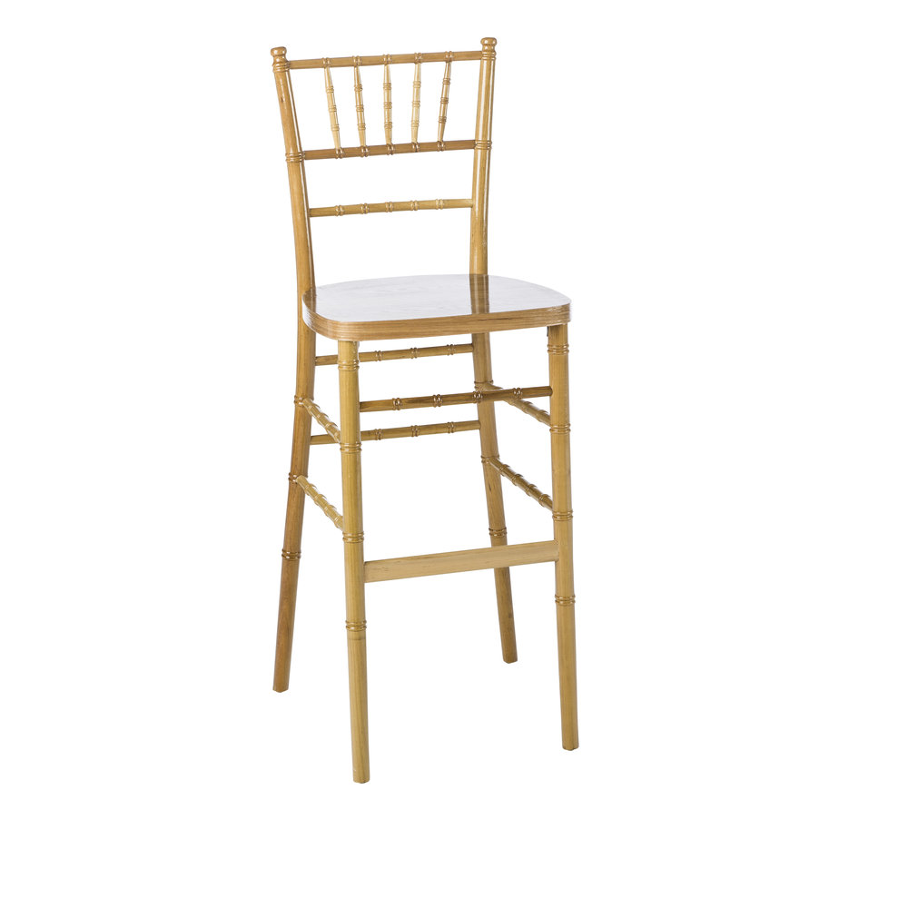 NATURAL CHIAVARI BAR STOOL  -