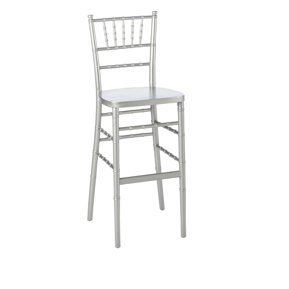 SILVER CHIAVARI BAR STOOL  -