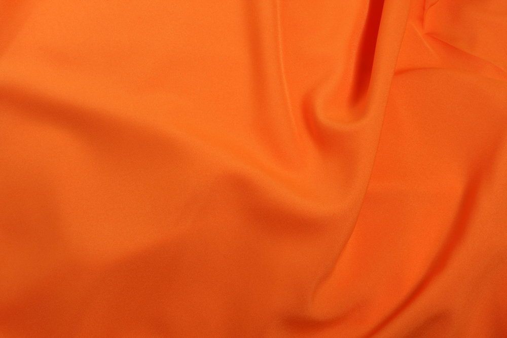 ORANGE  - COTTON /POLY BLEND -