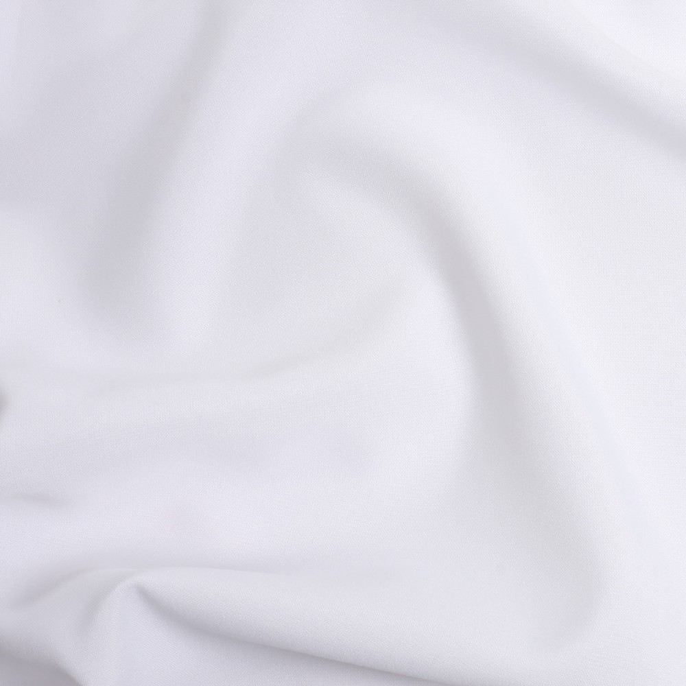 WHITE - COTTON /POLY BLEND -