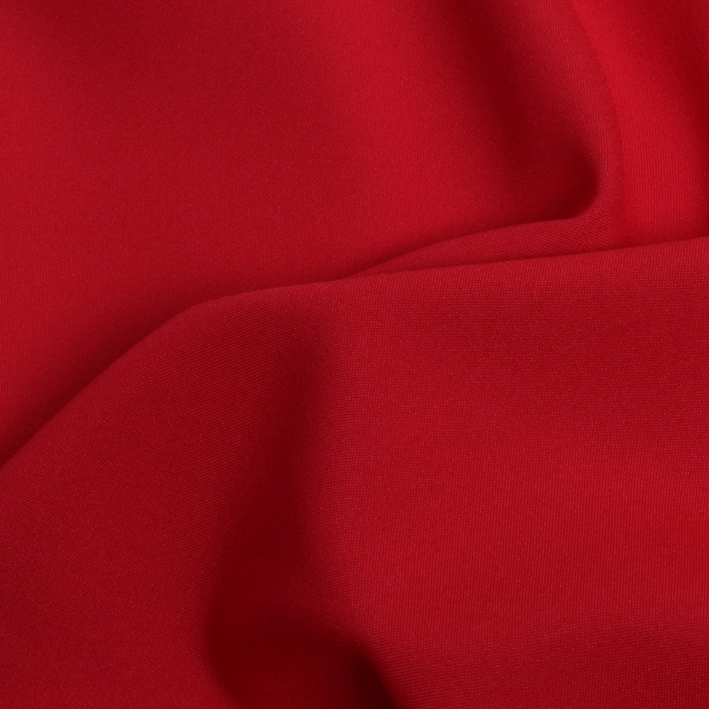 SCARLET RED - COTTON /POLY BLEND -