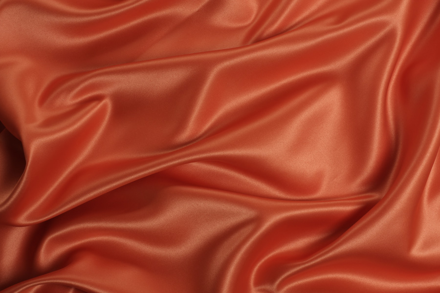BURNT ORANGE SATIN -