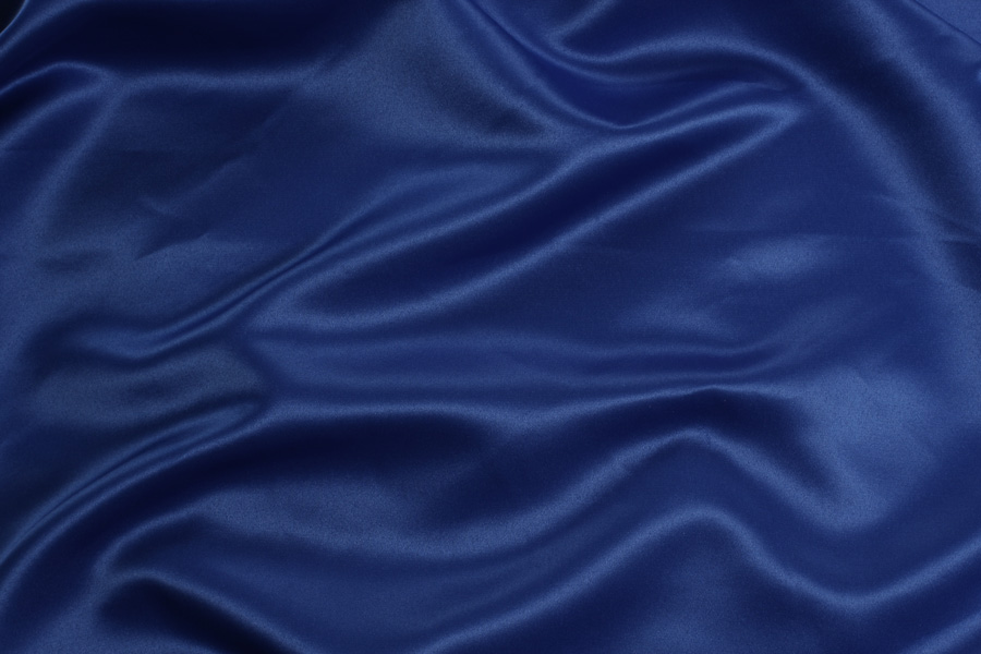 ROYAL BLUE SATIN -