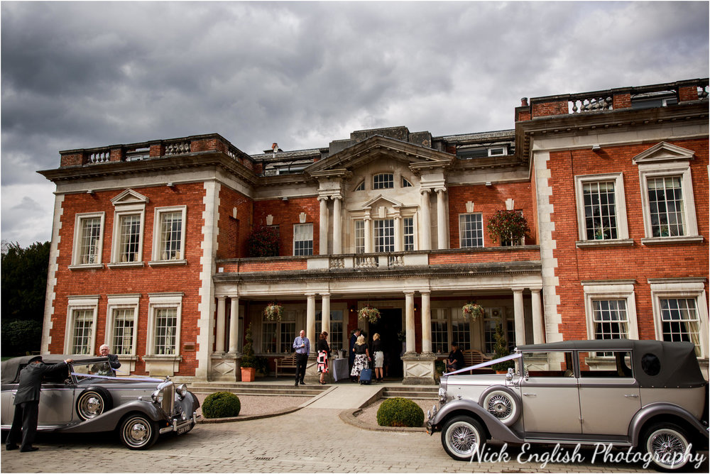 Wedding cars outside Eaves Hall