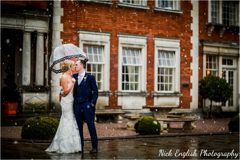 Eaves Hall Wedding Photoghraphy in the snow!