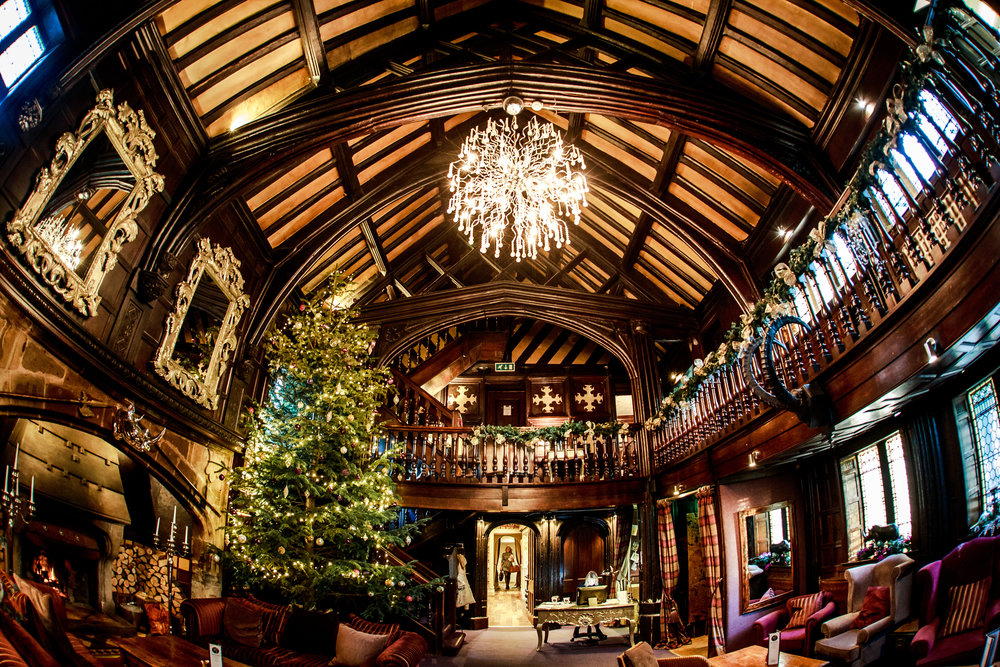 Mitton Hall have an enormous Christmas tree during December which looks fantastic in reception