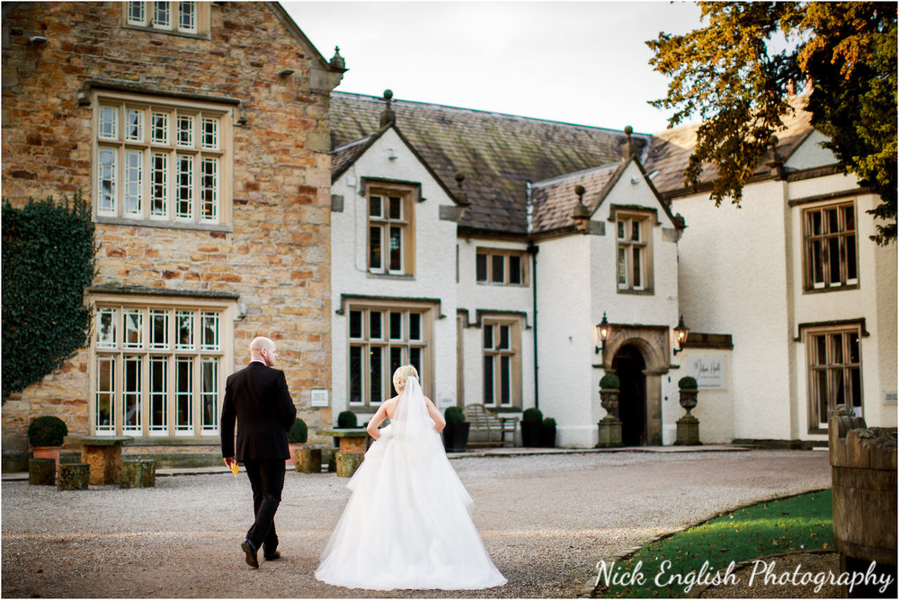 Bride and Groom Mitton Hall