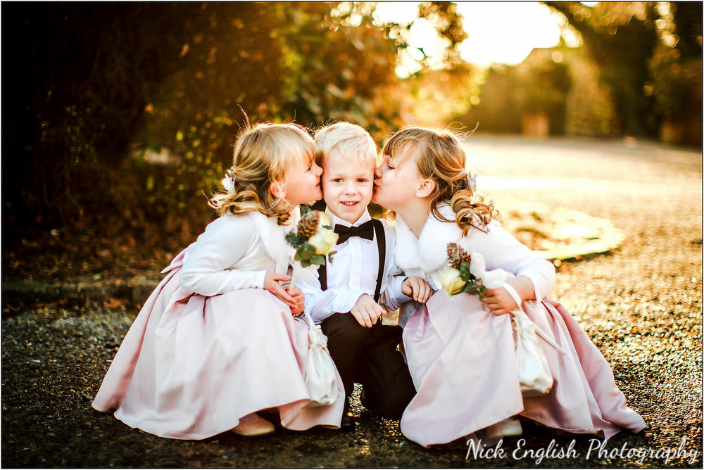 Mitton Hall page boy flower girls wedding christmas