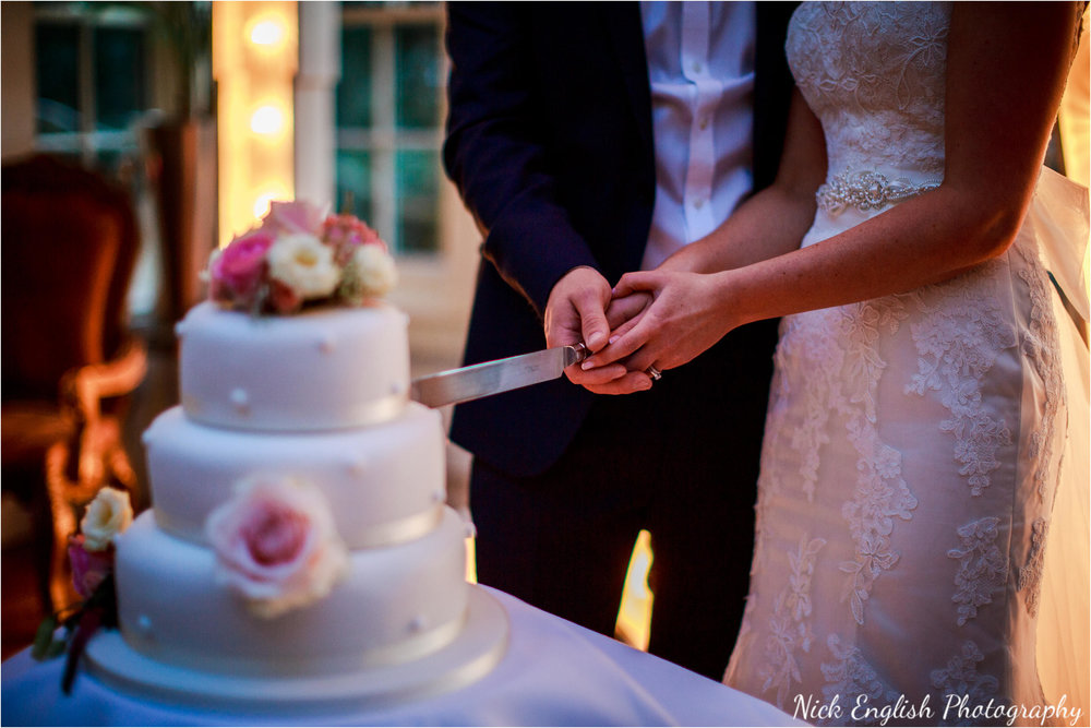 Mitton Hall Bride Groom Cake Cutting