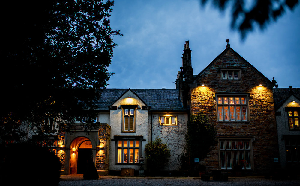 Mitton Hall Building at Night