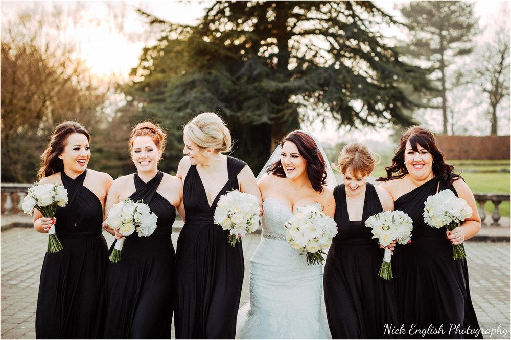 Bridesmaids Eaves Hall Wedding Photograph