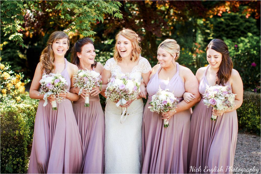 Eaves Hall Bridesmaids Summer Wedding