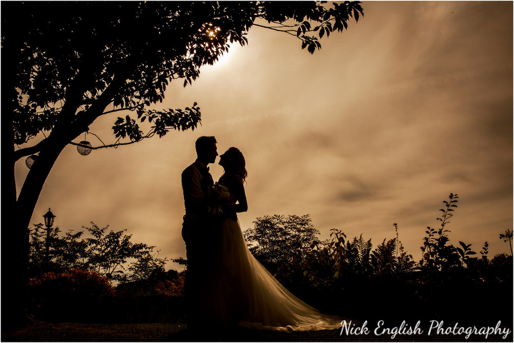 Bride and Groom Silhouette Wedding Photograph