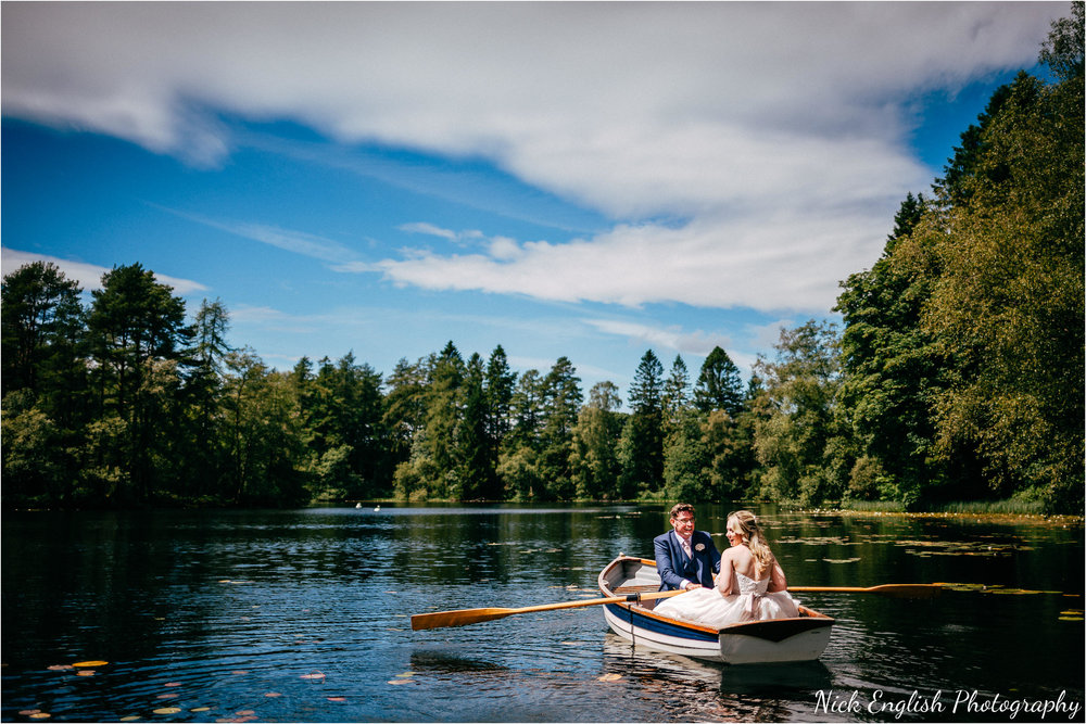Lake District Wedding Photography Bride Groom Rowing Boat