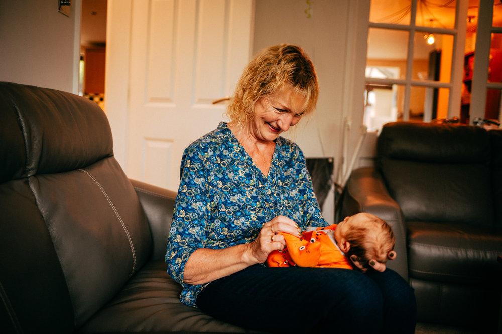 Baby Zack with Grandma