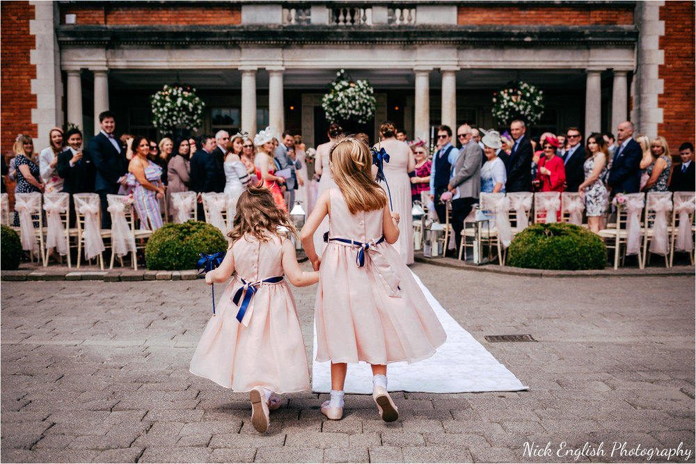Flower Girls Eaves Hall Outdoor Wedding
