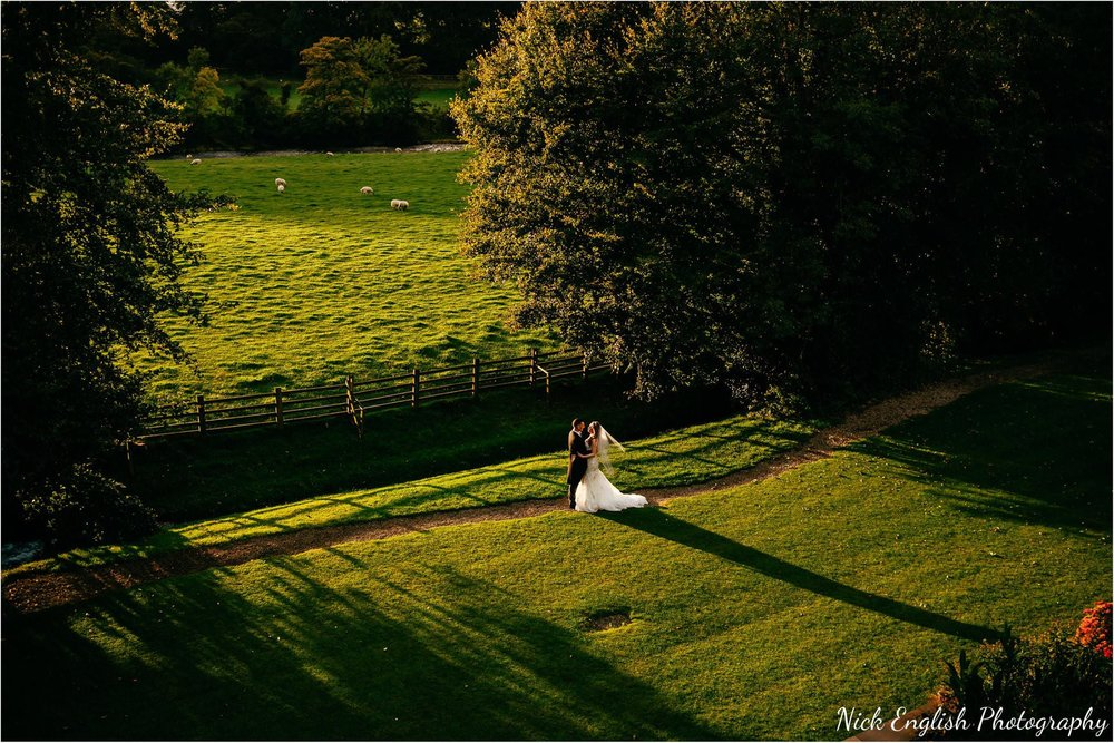 Mitton Hall Shadows Sunset Wedding Photograph.jpg