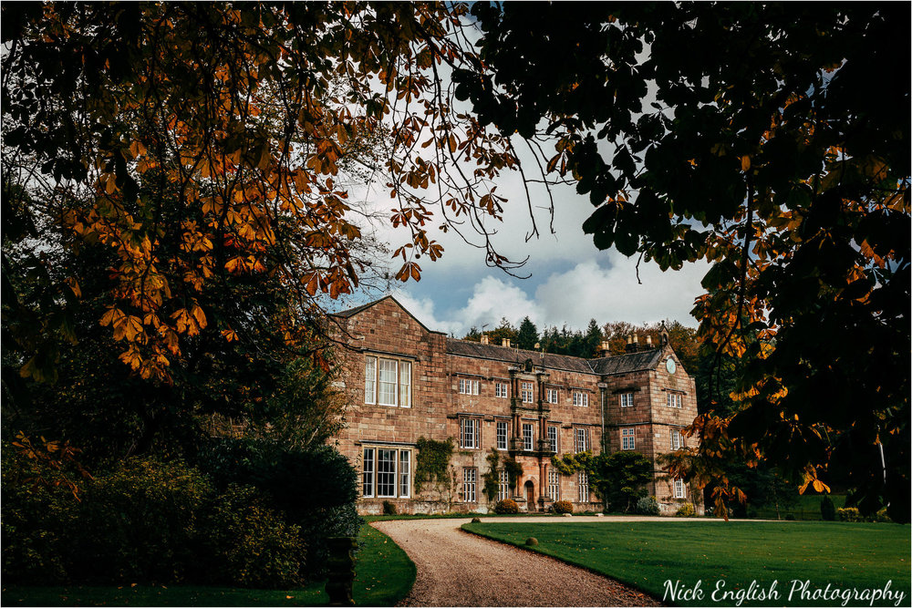 browsholme hall main building - where you can enjoy your drinks reception infront of