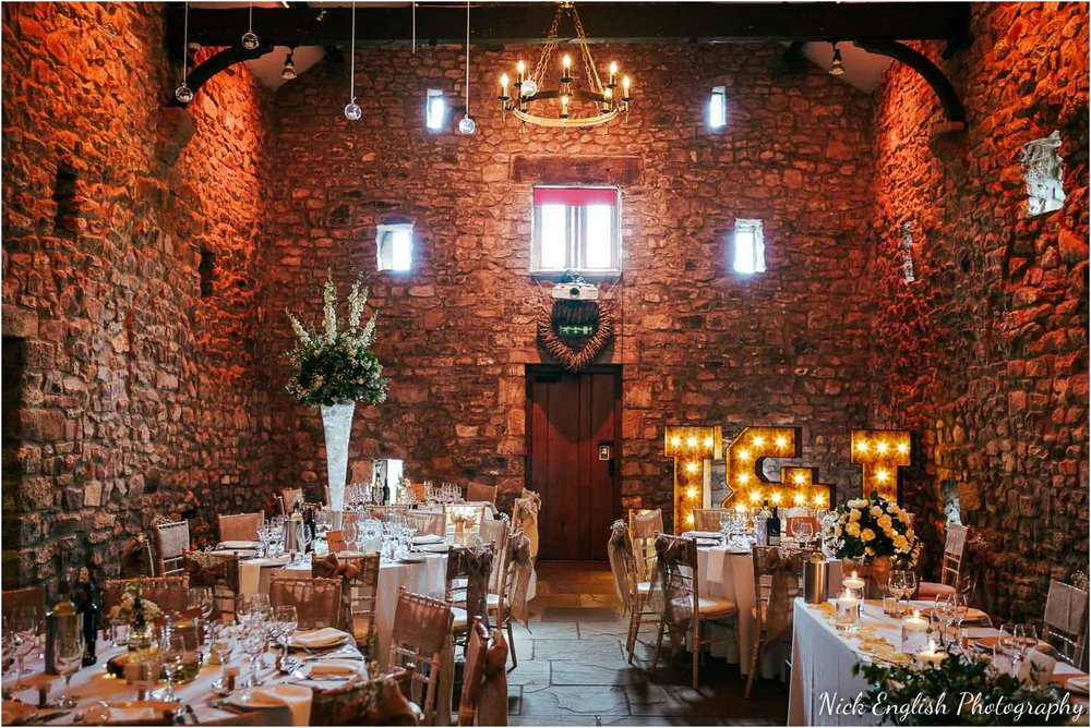 Browsholme Hall tithe barn - a different layout and lighting