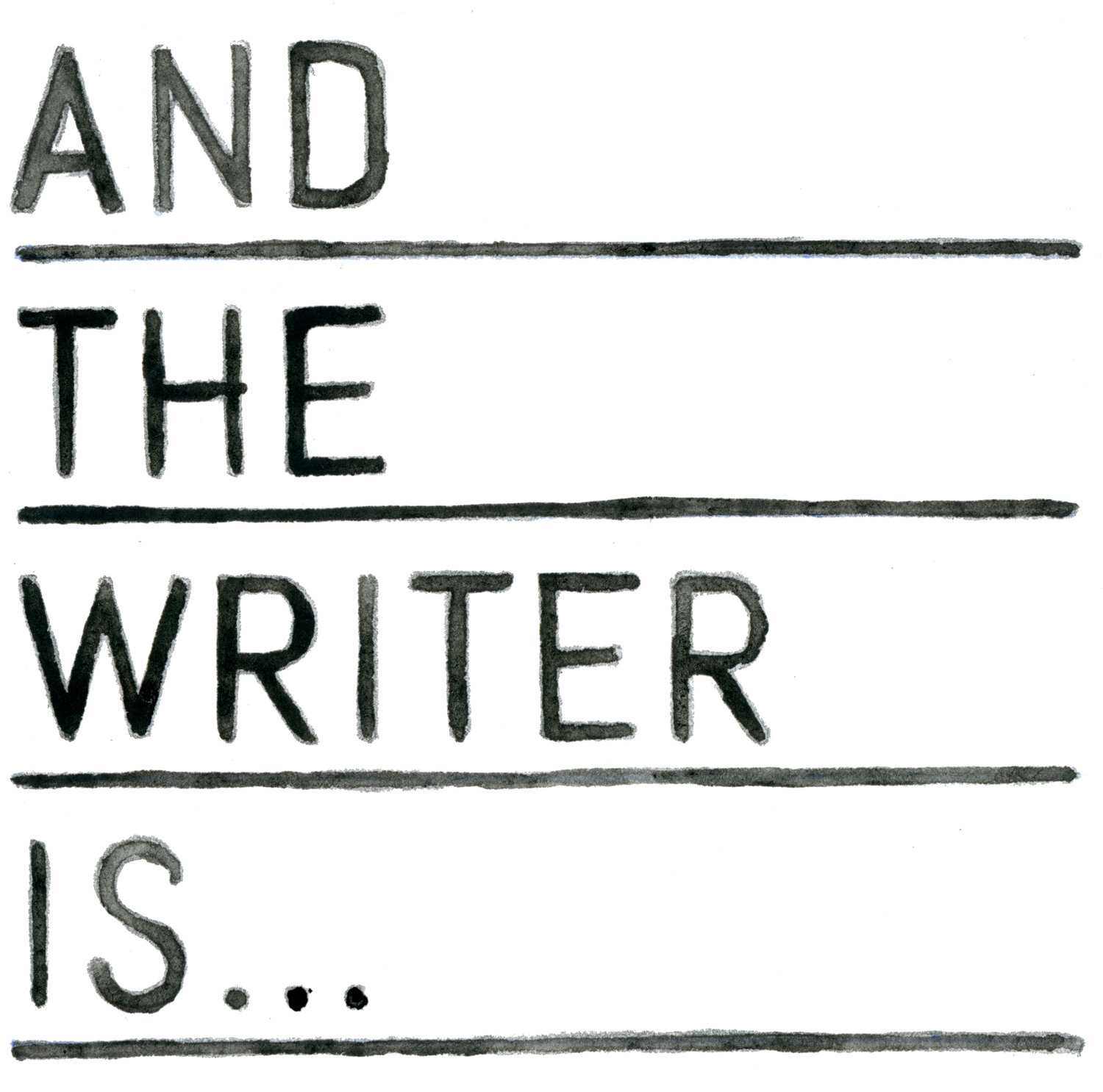 And The Writer Is...