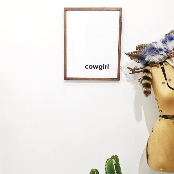 My gorgeous friend Philomena's take on cowgirl - @frankprints. Image: me