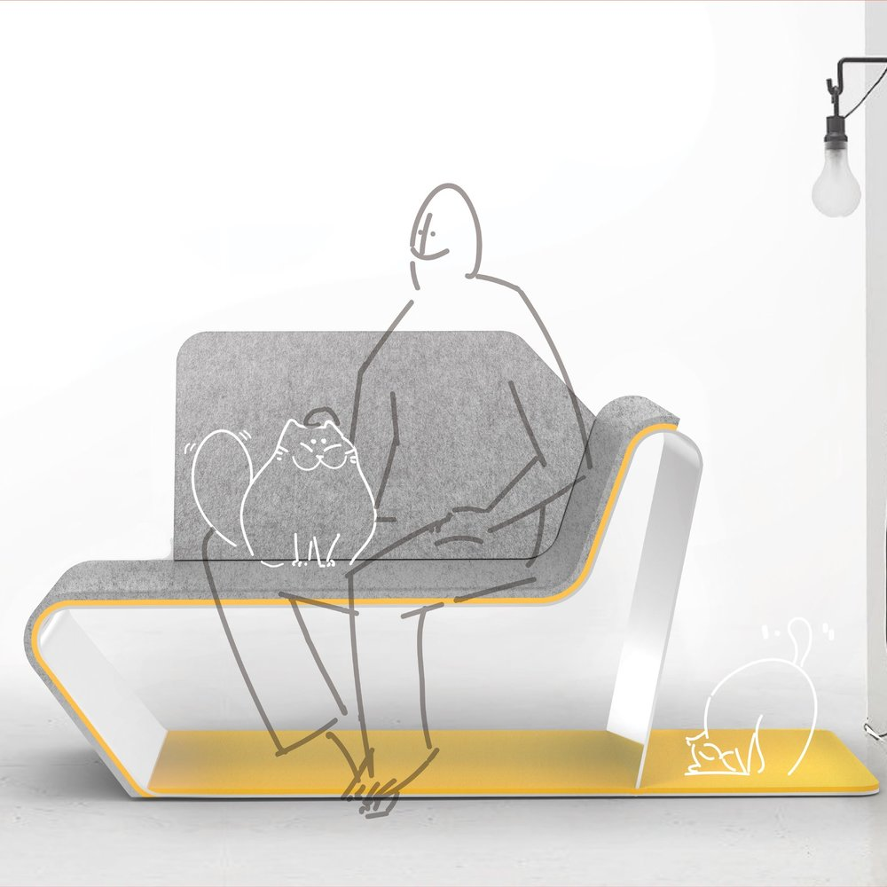 Curiocity Lounge Chair  - A lounge chair foryou and your little firned