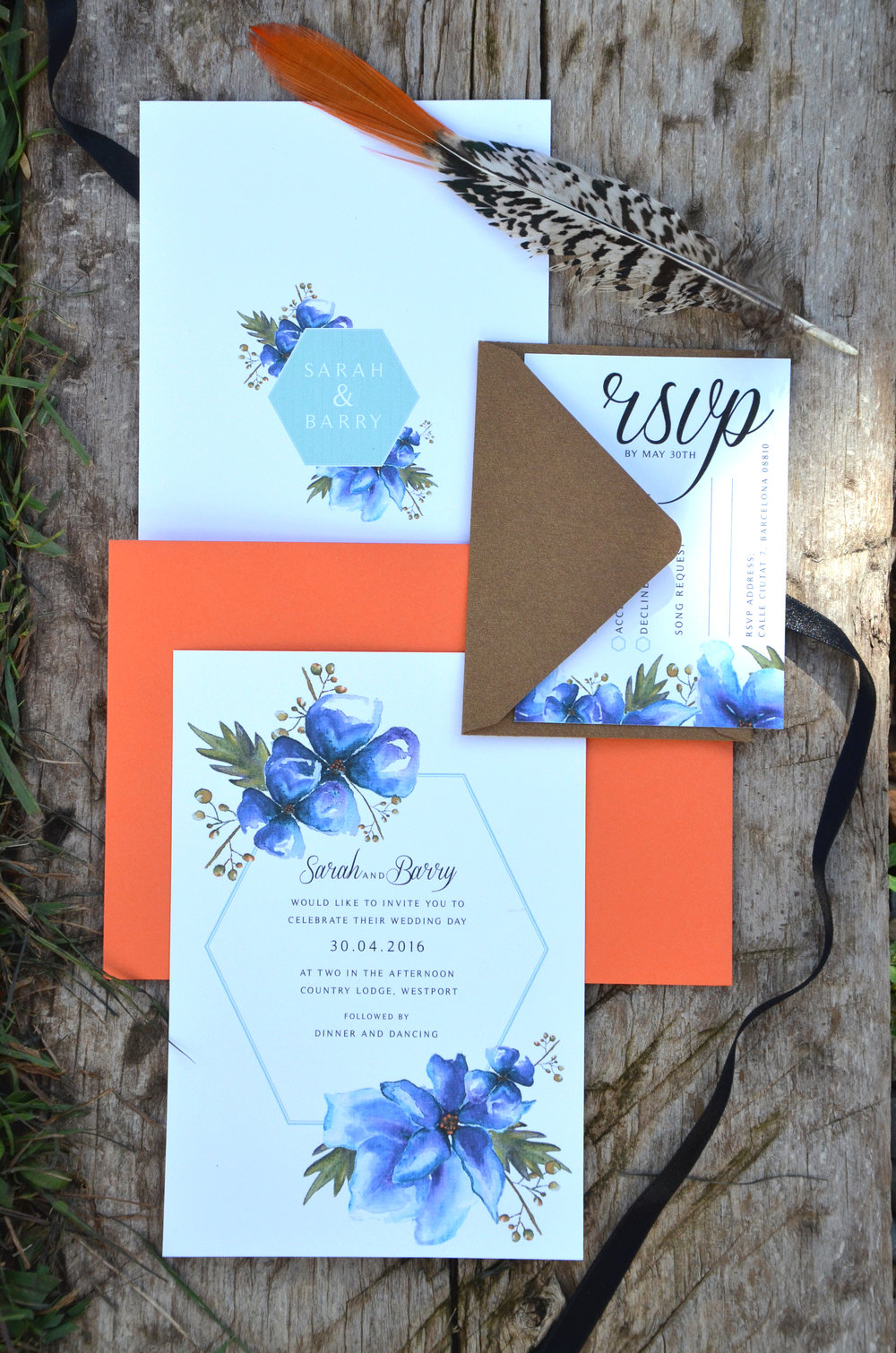 Geometric blue and gold invitation.JPG